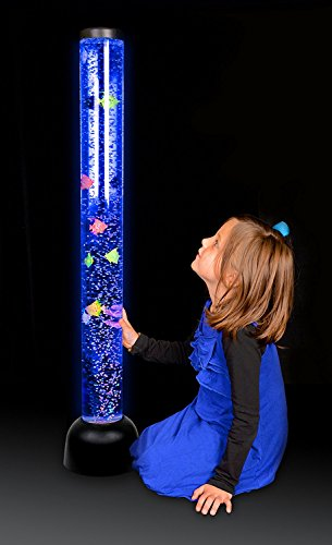 By Playlearn Sensory Led Bubble Tube Floor Lamp With 7 Changing