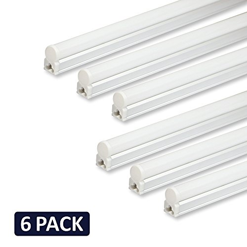 Pack of 6 Barrina LED T5 Integrated Single Fixture, 4FT, 2200lm ...