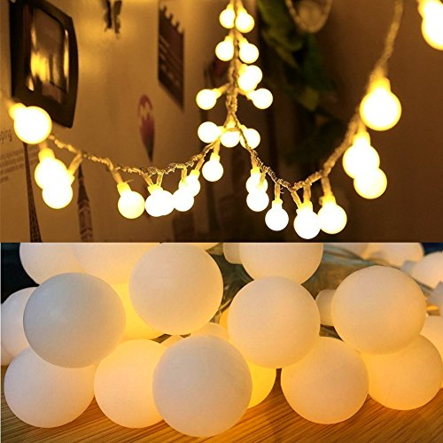 16 Feet 50 LED Globe Fairy Lights, Battery Operated Globe String Lights Starry Lights for Home ...