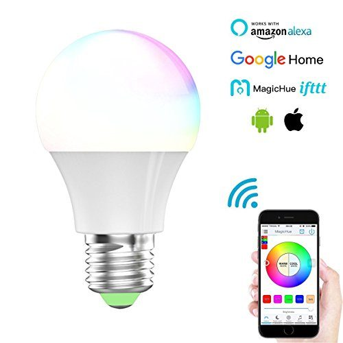 Magic Hue Smart LED Light Bulb, Wi-Fi, Multicolored Dimmable Smart