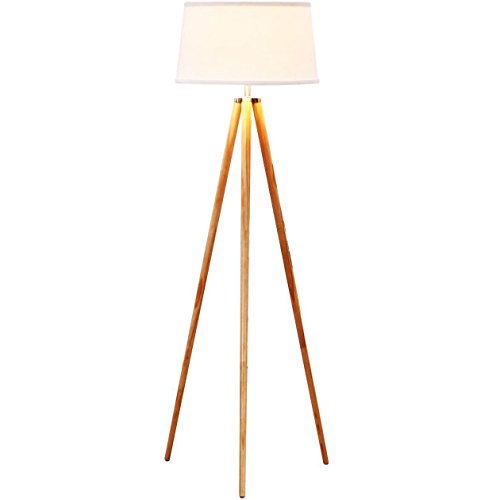 brightech eithan led floor lamp  u2013 modern contemporary elevated crane arc floor lamp  u0026 linen