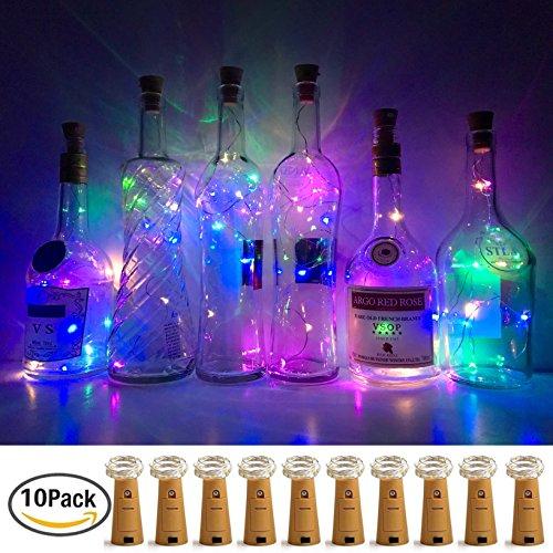 20 Led Bottle Cork String Lights Wine Bottle Fairy Mini