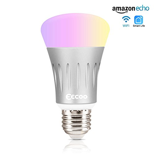 Smart Wifi Led Light Bulb Eecoo 7w Wireless Dimmable Led