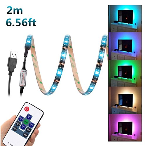 Amir tv led light strip 30 led tv backlight strip usb bias monitor light up every side of your tv 78 7in 2m 5050 led light strip for 40 60 inch tv static color20 colors easy installation led strips light aloadofball Gallery