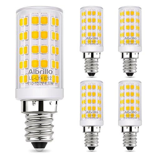Albrillo E12 LED Candelabra Bulb Chandelier Light Bulbs 60 Watt ...