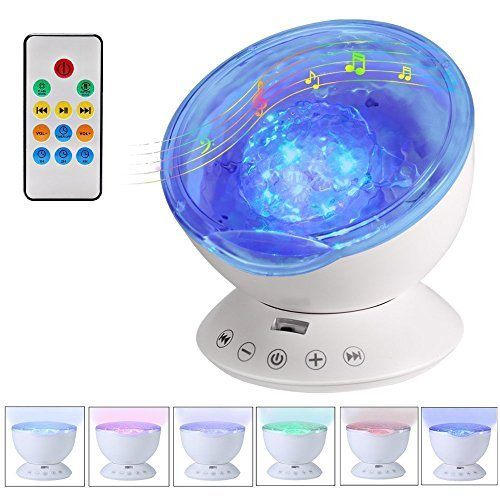 Kbaybo Remote Control Ocean Wave Projector 12 Led Amp 7