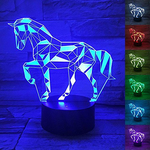 3d Horse Lamp Optical Illusion Night Light For Room Decor