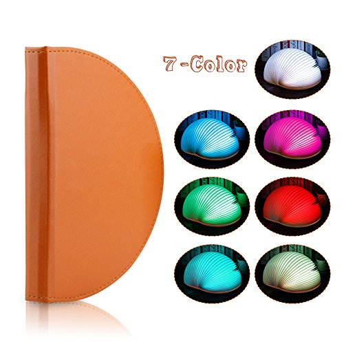 Veesee 7 Colors Rechargeable Book Folding Light,3