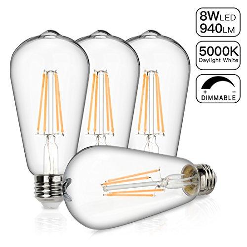 Vintage LED Edison Bulb, 8W Dimmable Filament Light Bulb