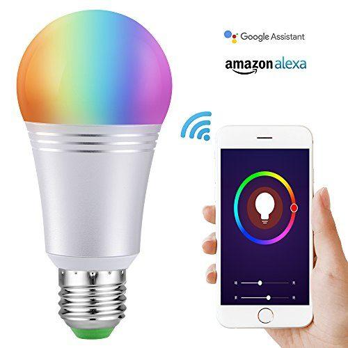 Smart Led Light Bulb, Wi-Fi Smart Bulbs 6000K Dimmable Color