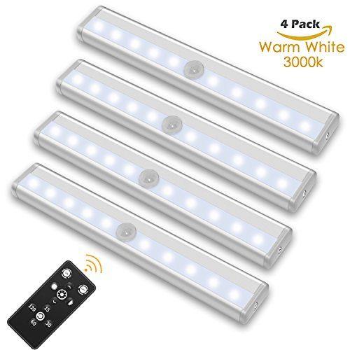 szokled remote control led lights bar wireless portable led under cabinet lighting dimmable. Black Bedroom Furniture Sets. Home Design Ideas