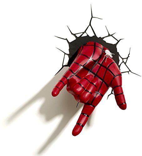 3dlightfx Marvel Spiderman Hand 3d Deco Light Yumdistrict