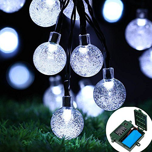 18650 rechargeable battery included easydecor globe battery operated string lights 30 led automatic timer 8 mode crystal ball christmas lights for xmas