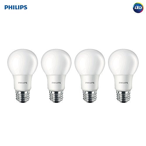 Philips Led Non Dimmable A19 Frosted Light Bulb 800 Lumen