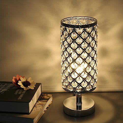 Tomshine Table Lamp Modern Nightstand Lights For Bedroom