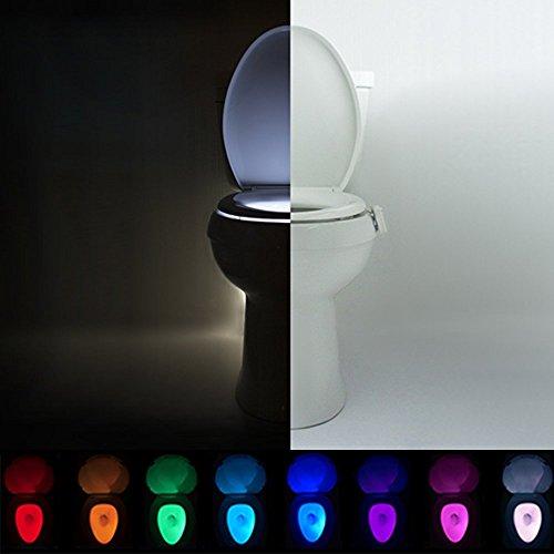Universal Toilet Fit Germ Fighting Bright Motion Sensor