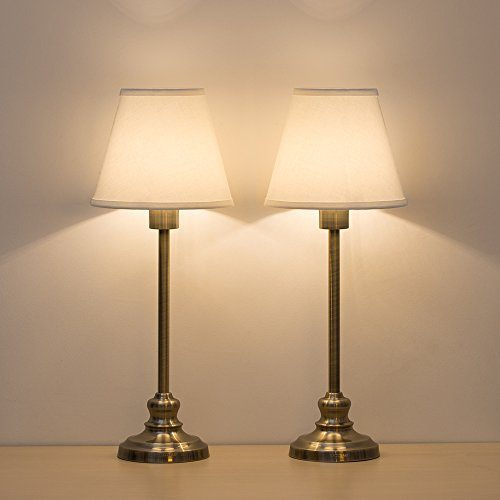 Haitral Table Lamps Gold Metal Bedside Desk Lamp With