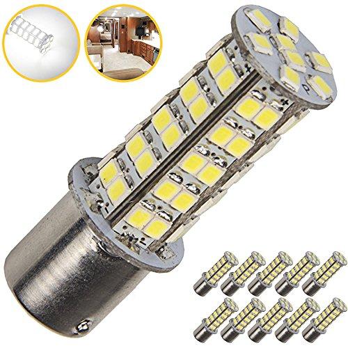 10 x Super Bright 1141 RV Interior LED Light 1156 1003 BA15S