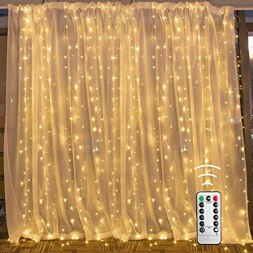 10 Ft Led Curtain String Lights With Remote Amp Timer 300