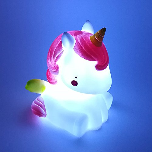 Unicorn Led Night Light Bedroom Desk Cartoon Animal