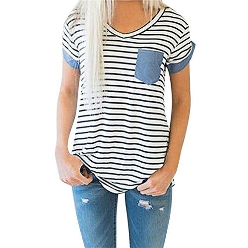 32ddb57f6fcc Chanyuhui Women Shirts Fashion Plus Size Clearance Casual Stitching ...