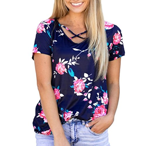 52a4b11e337 Chanyuhui Women Shirts Fashion Plus Size Clearance Casual Stitching ...