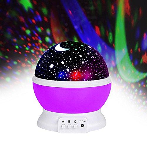 Jayden78 Toys For 4 5 Year Old Boys Night Light Rotating Moon Stars