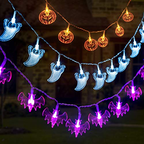 perfect decoration halloween theme led fairy string lights a great choice for your halloween christmas party decoration money back warranty if you are - Christmas Light Necklace Battery Operated