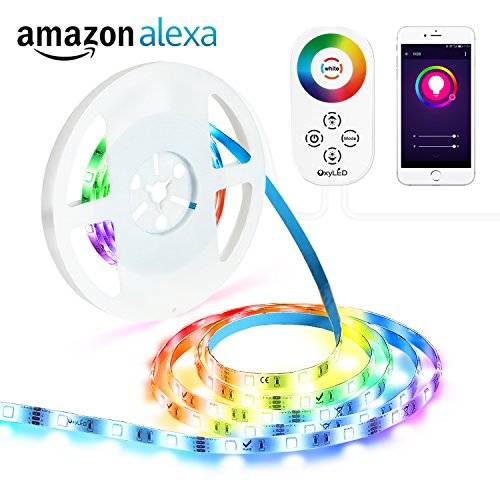 Led Strip Lights Oxyled 16 4ft 150 Leds Wifi Wireless Smart Phone Controlled Alexa Echo