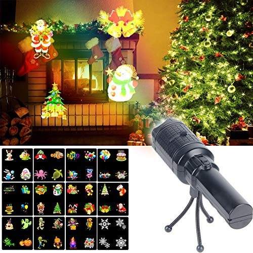 Kmashi Christmas Projector Lights Battery Operated