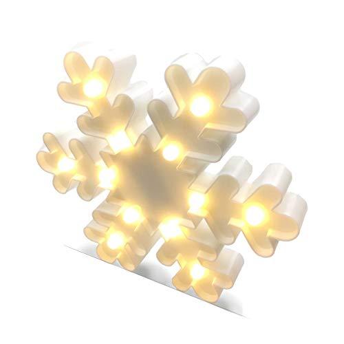 Jofan Battery Operated Christmas Lights Snowflake Warm White LED
