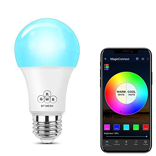 formerly haodeng magicconnect bluetooth mesh smart light bulb no hub required multicolored. Black Bedroom Furniture Sets. Home Design Ideas
