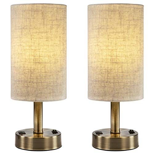 DEEPLITE USB Table Lamps For Bedroom, Bedside Nightstand