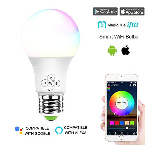 magic hue smart wifi light bulb no hub required multicolored dimmable ios android app alexa. Black Bedroom Furniture Sets. Home Design Ideas