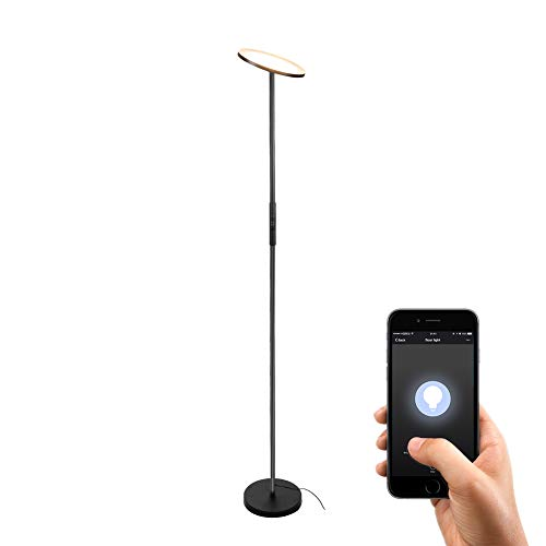 Smart Alexa Wifi Table Lamp By Venyn Dimmable Multicolored Changing Led Rgbw Light With Fabric