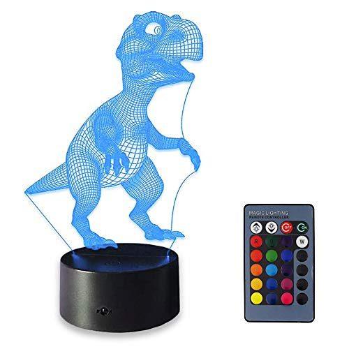ZHOPPY Night Light 3D lamp 7 Colors Changing Nightlight ...