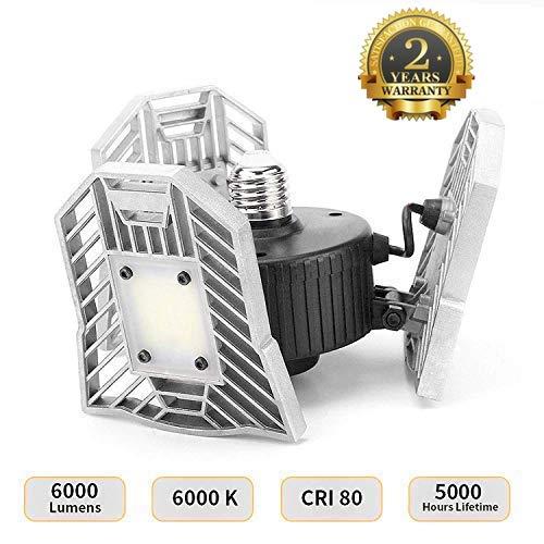 Indoor Deformable Light 6000LM, 60W Garage Ceiling LED