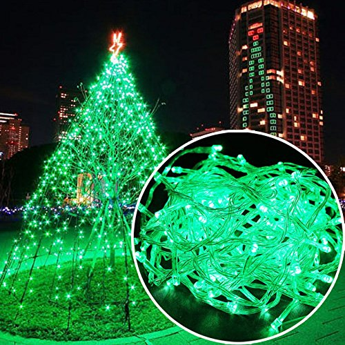 Autolizer 100 LED Green Fairy String Lights Lamp for Xmas Tree