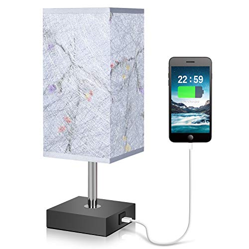 Usb Table Lamp Ambimall Bedside Lamp With Usb Charging