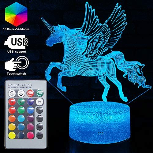 3d Unicorn Lamp Led Optical Illusion Lamps Light With