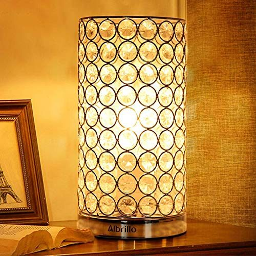 albrillo crystal table lamp bedside lamps decorative