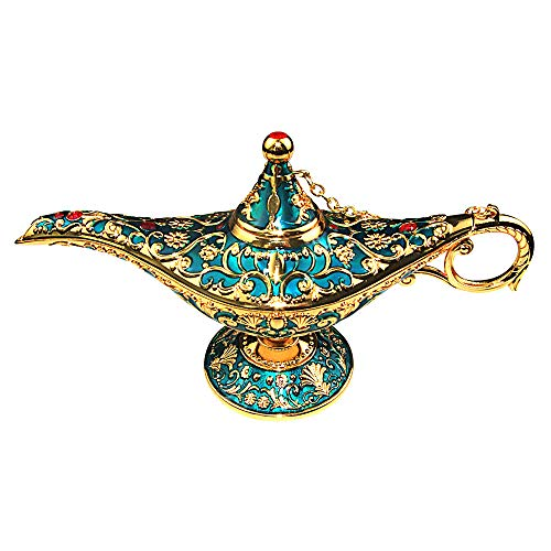 Metal Crafts Zinc Alloy Aladdin Magic Lamp Wedding Decoration Ornaments